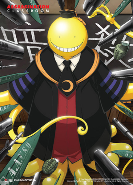 koro sensei aim your weapons assassination classroom fabric poster. Black Bedroom Furniture Sets. Home Design Ideas