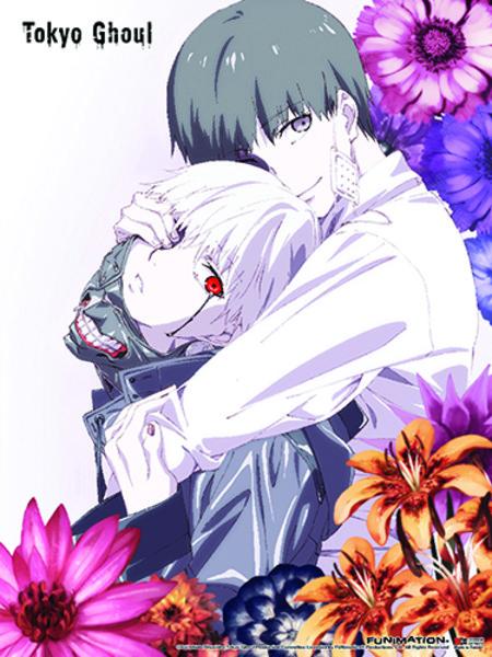 Tokyo Ghoul Kaneki Among Flowers Fabric Poster