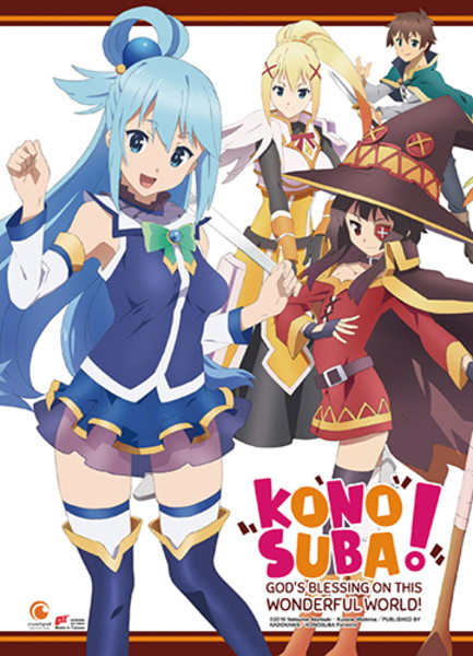 Main Cast Konosuba Fabric Poster