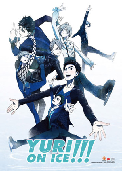 Competition Key Art Yuri!!! On Ice Fabric Poster