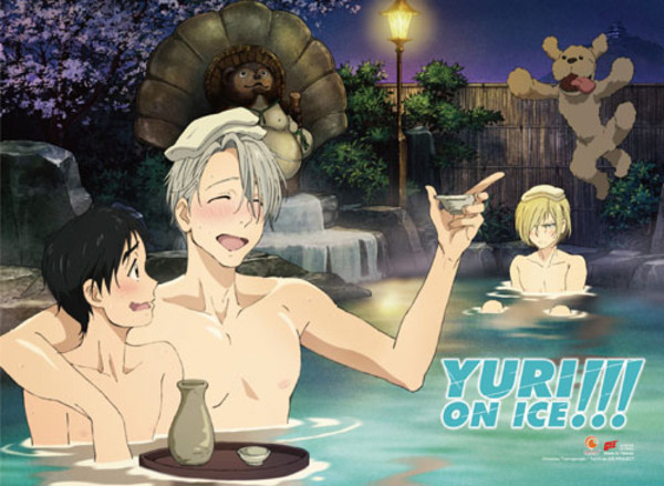 Hot Spring Yuri!!! On Ice Fabric Poster