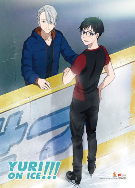 Yuri & Victor Skate Rink Yuri!!! On Ice Fabric Poster