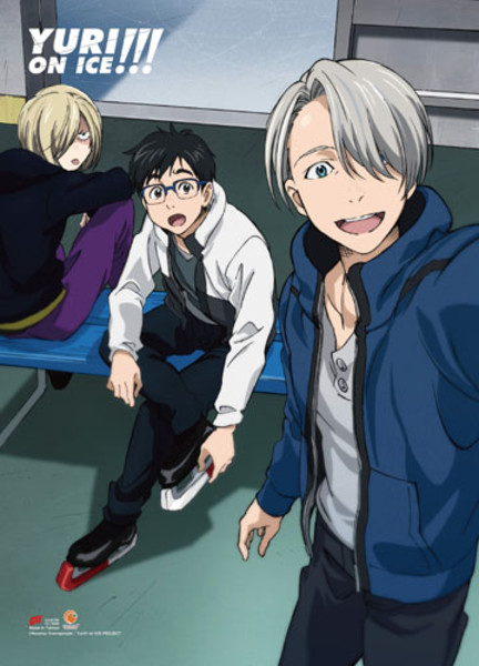 Main Group Selfie Yuri!!! On Ice Fabric Poster