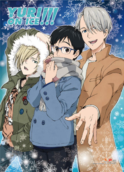 Winter Yuri!!! On Ice Fabric Poster