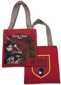 Eren Attack on Titan Tote Bag Red
