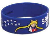 Peace Sign Sailor Moon PVC Wristband