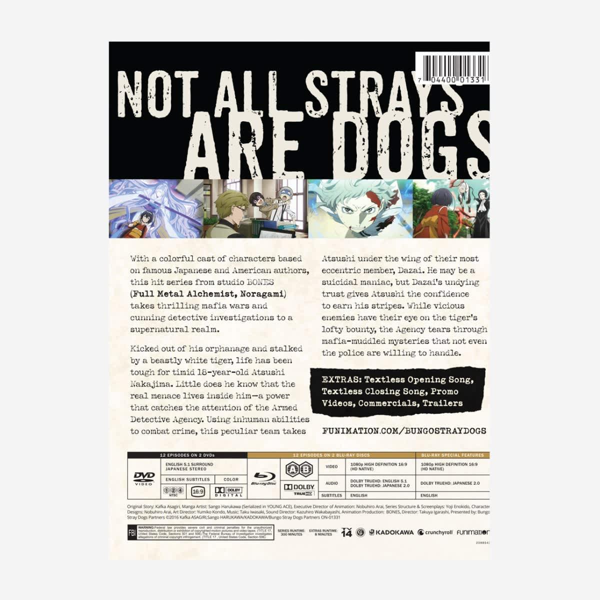 Bungo Stray Dogs Season 1 Limited Edition Blu-ray/DVD