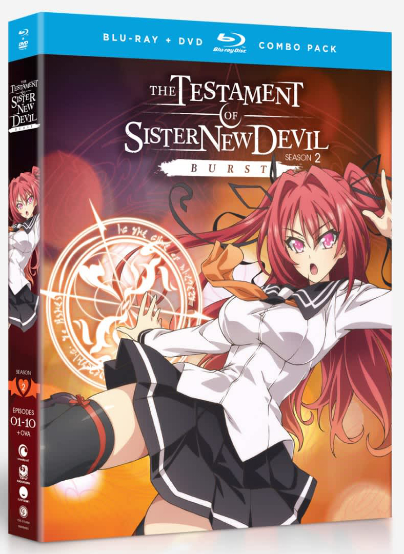 The Testament of Sister New Devil BURST Season 2 + OVA Blu-ray/DVD 704400014093