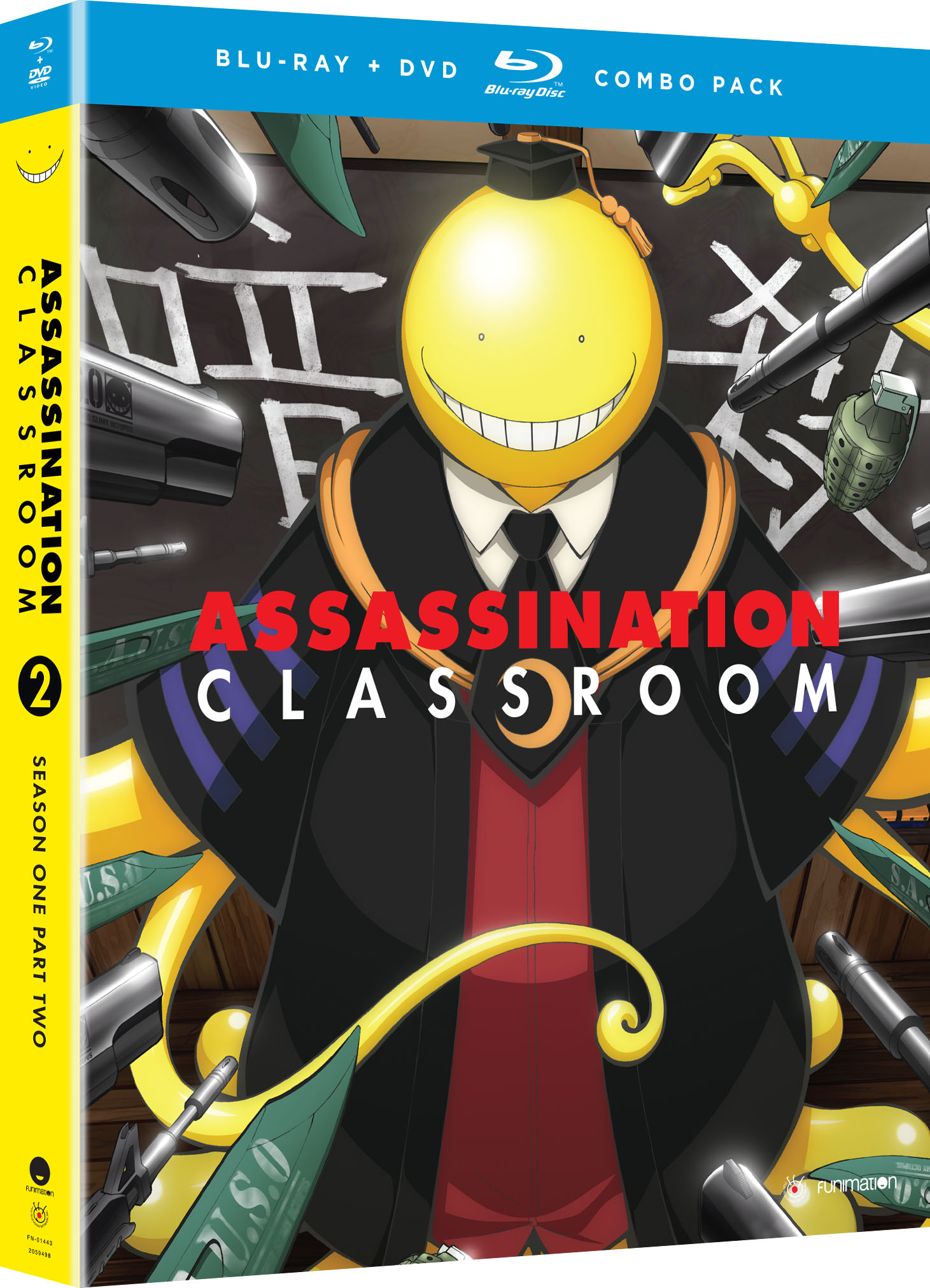 assassination classroom season 1 part 2 blu dvd