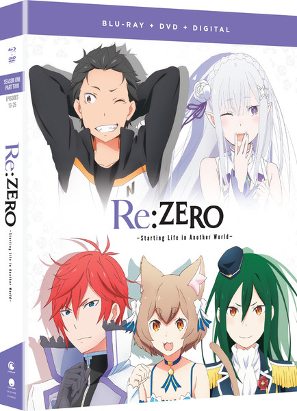 Re:ZERO Starting Life in Another World Season 1 Part 2 Blu-ray/DVD