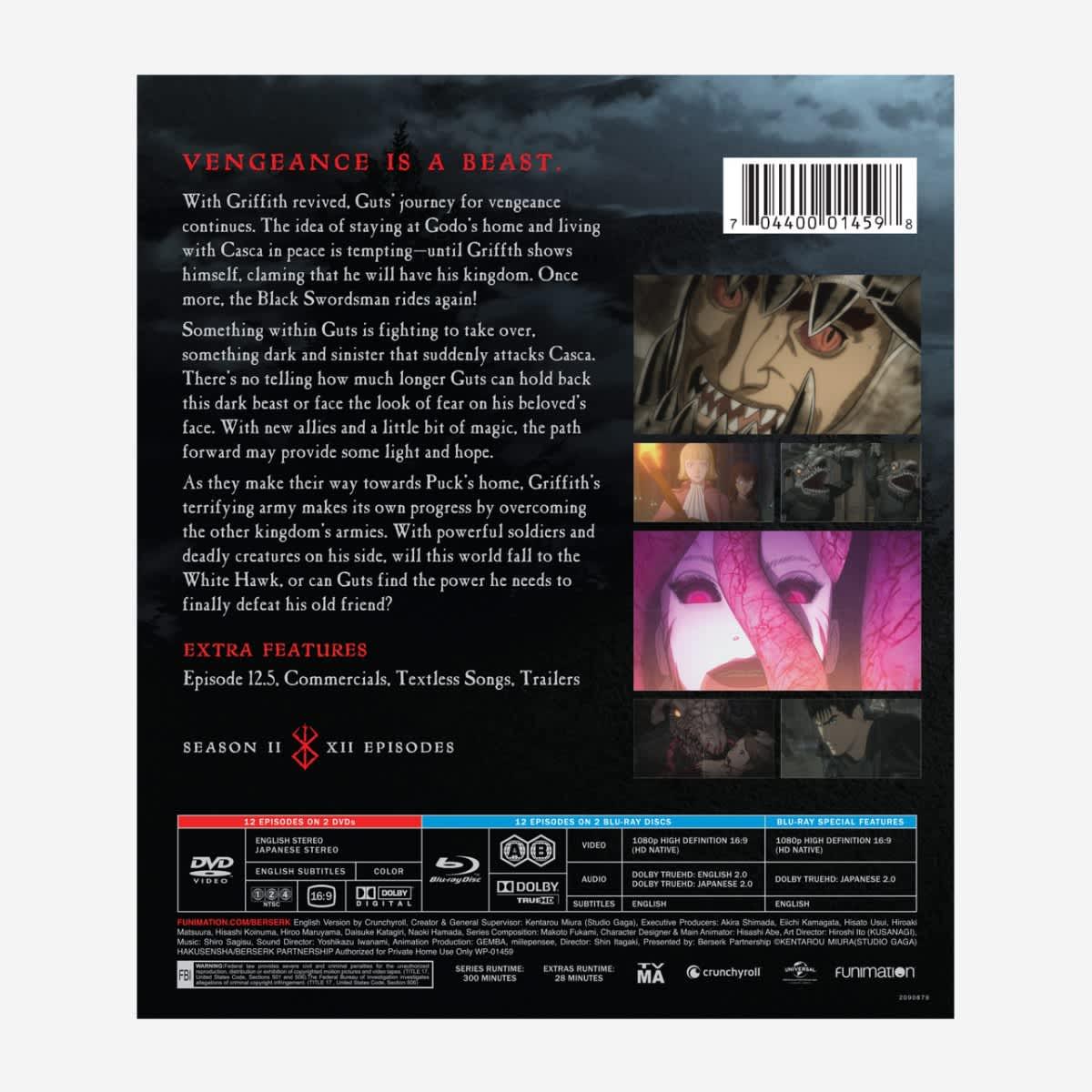 Berserk Season 2 Blu-ray/DVD