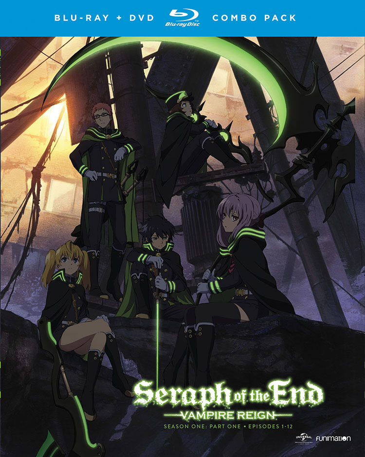 Seraph of the End Vampire Reign Season 1 Part 1 Blu-ray/DVD 704400014826