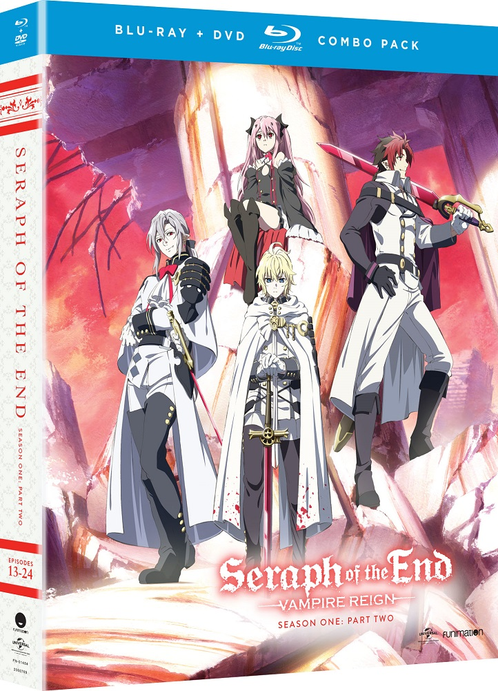 Seraph of the End Vampire Reign Season 1 Part 2 Blu-ray/DVD 704400014840