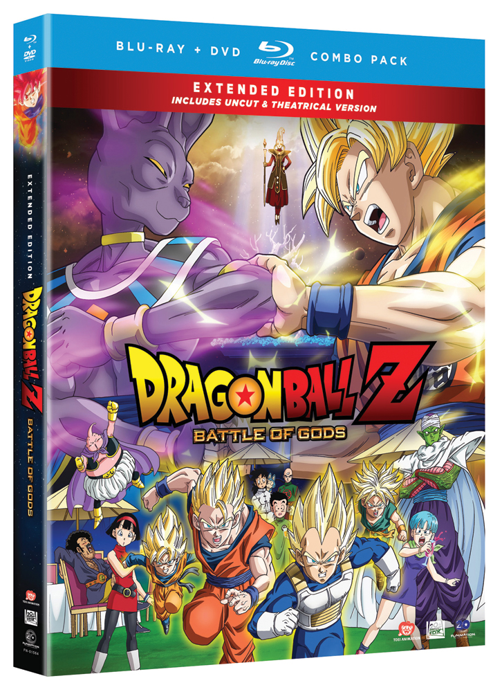 Dragon Ball Z Movie 14 Battle of Gods Blu-ray/DVD Uncut 704400015649