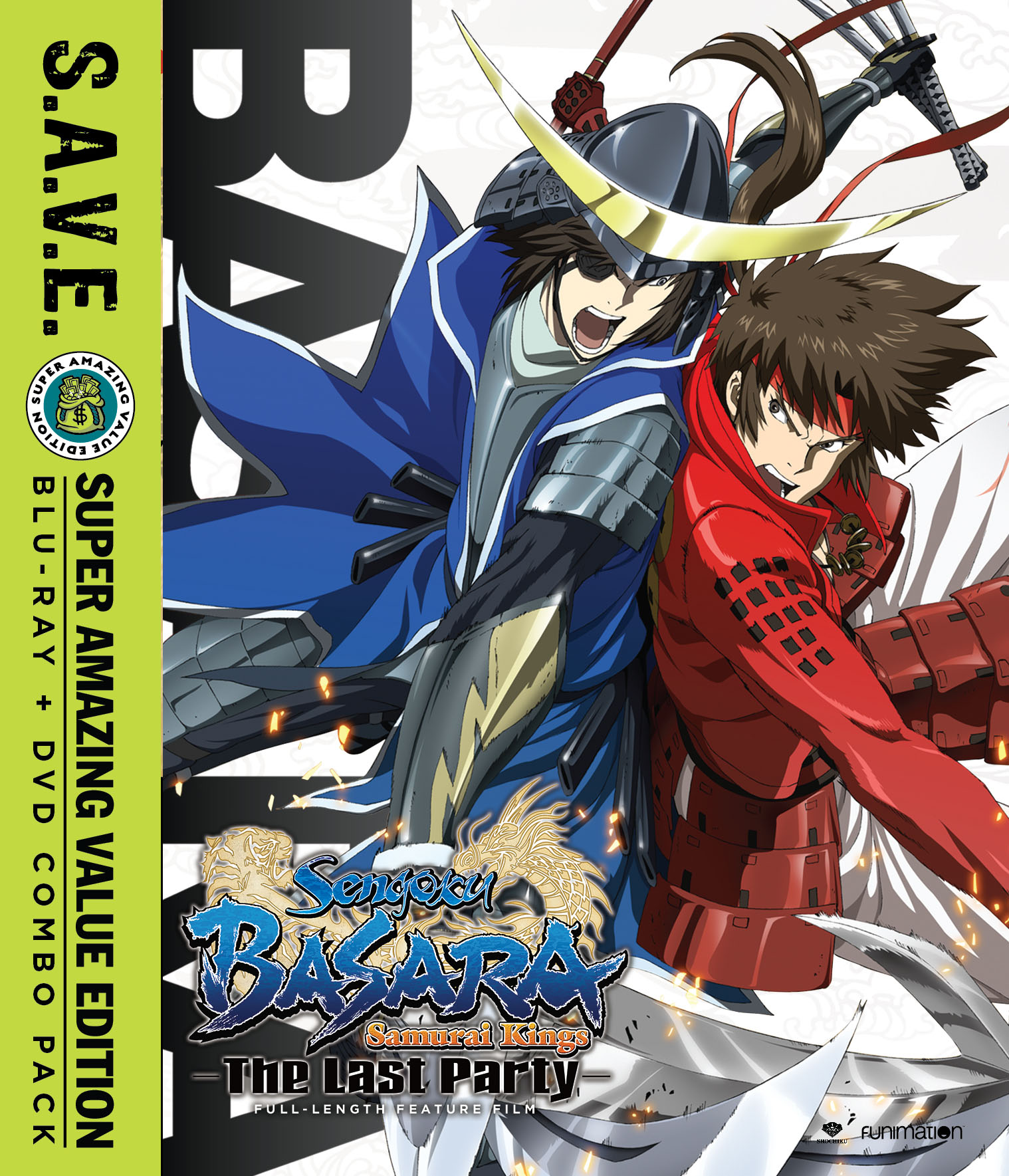Sengoku Basara Samurai Kings Movie The Last Party Blu-ray/DVD SAVE Edition 704400016264