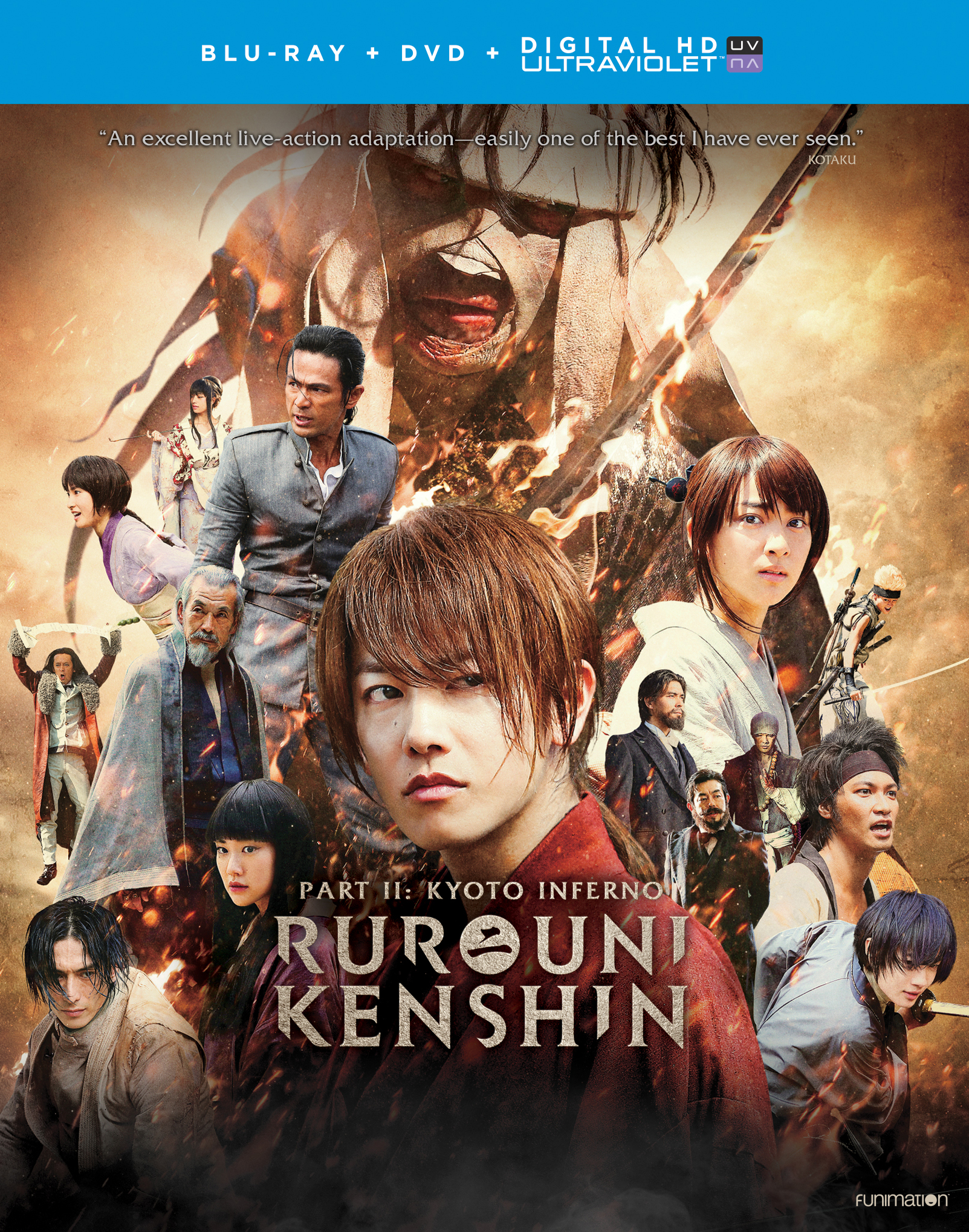 Rurouni Kenshin Part II Kyoto Inferno Blu-ray/DVD + UV 704400018329