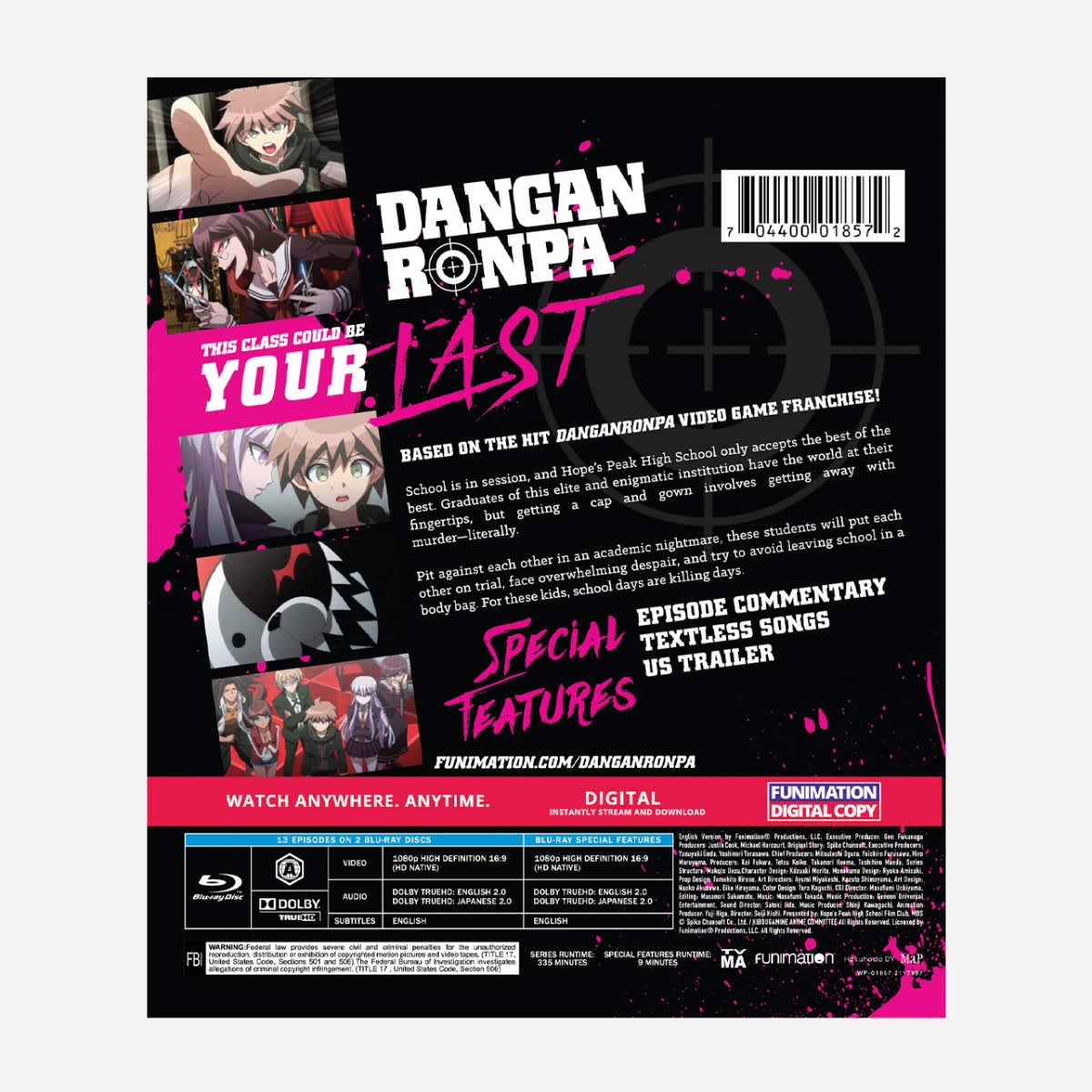 Danganronpa Essentials Blu-ray