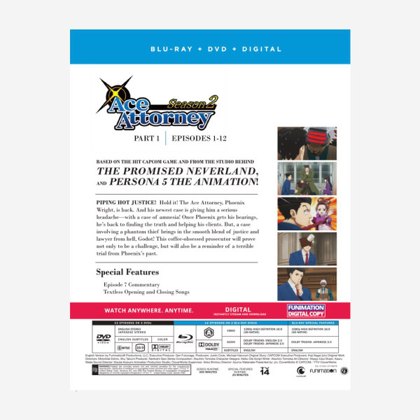 Ace Attorney Season 2 Part 1 Blu-ray/DVD