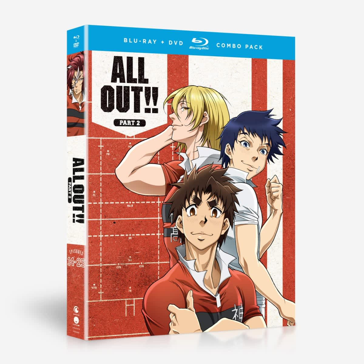 ALL OUT!! Part 2 Blu-ray/DVD 704400019104