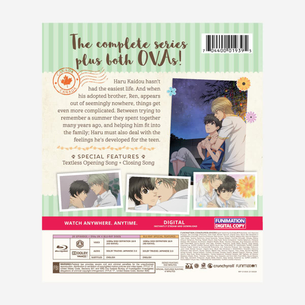 Super Lovers Complete Series Essentials Blu-ray