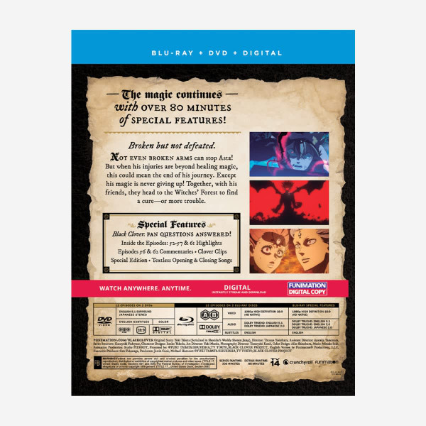 Black Clover Season 2 Part 1 Blu-ray/DVD