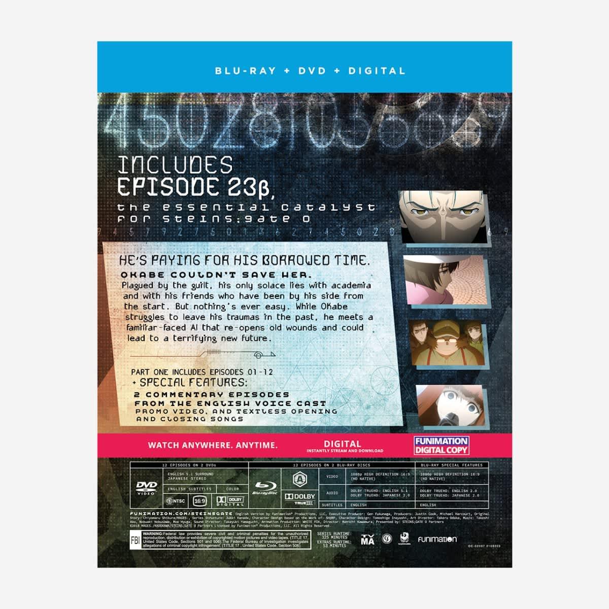 Steins;Gate 0 Part 1 Blu-ray/DVD