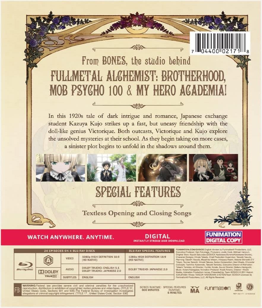 Gosick Complete Series Essentials Blu-ray