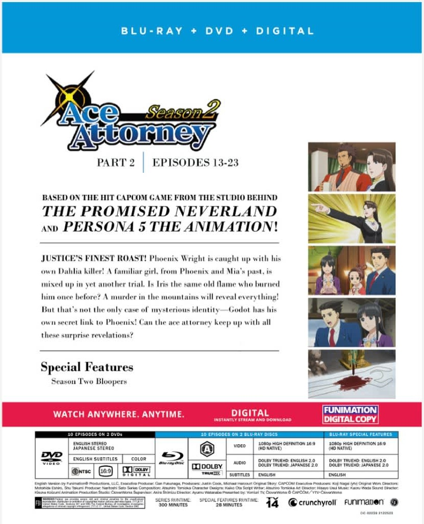 Ace Attorney Season 2 Part 2 Blu-ray/DVD