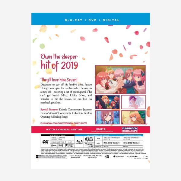 The Quintessential Quintuplets Season 1 Blu-ray/DVD