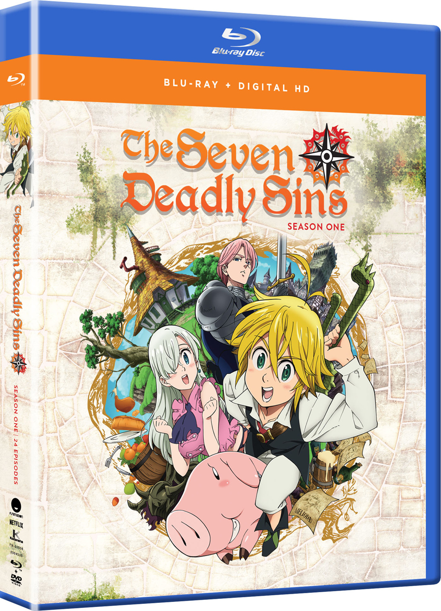 Seven Deadly Sins Season 1 Complete Collection Blu-ray 704400025068