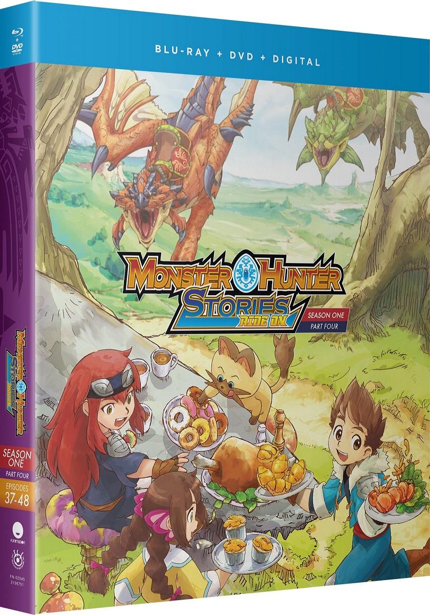 Monster Hunter Stories Ride On Season 1 Part 4 Blu Ray Dvd