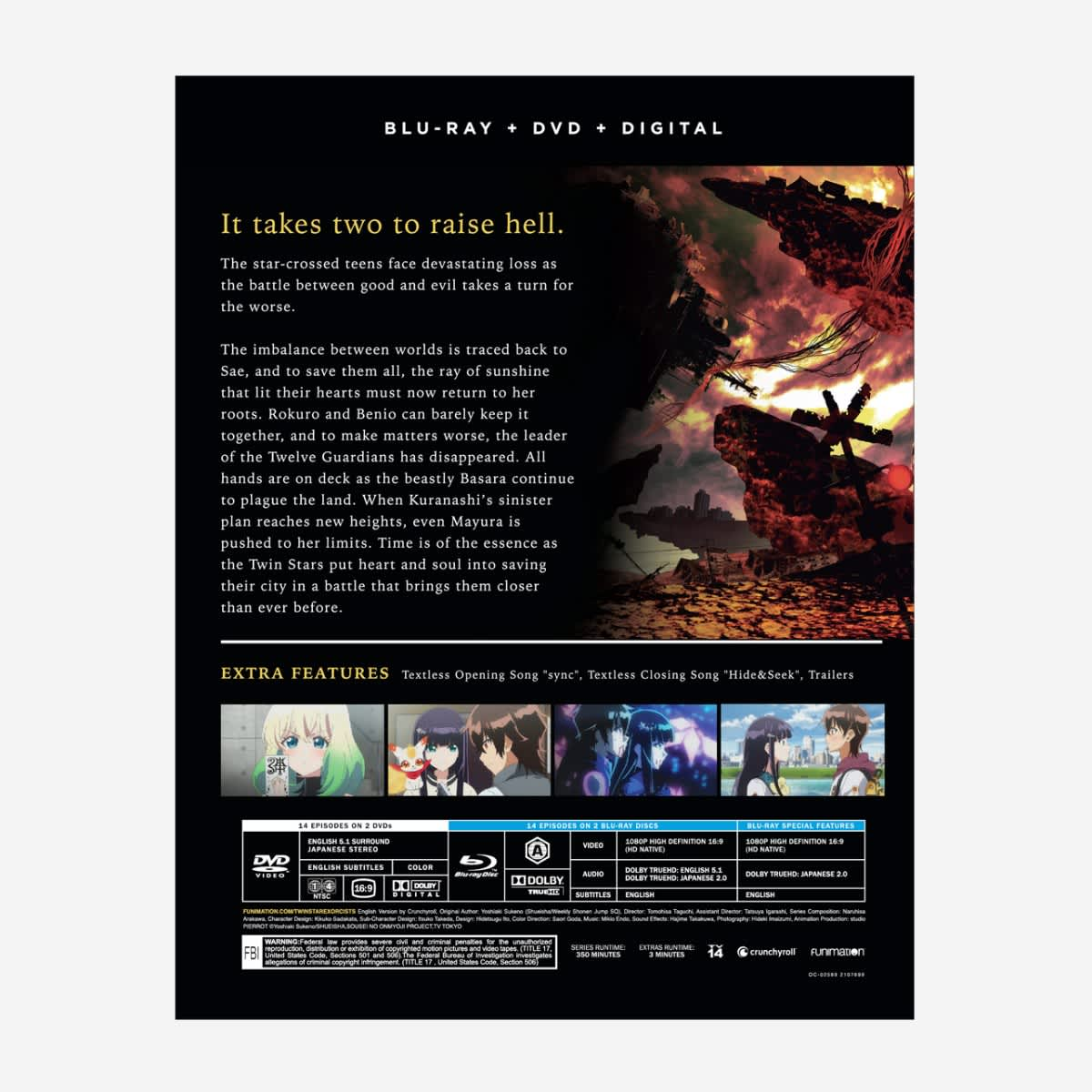 Twin Star Exorcists Part 3 Blu-ray/DVD
