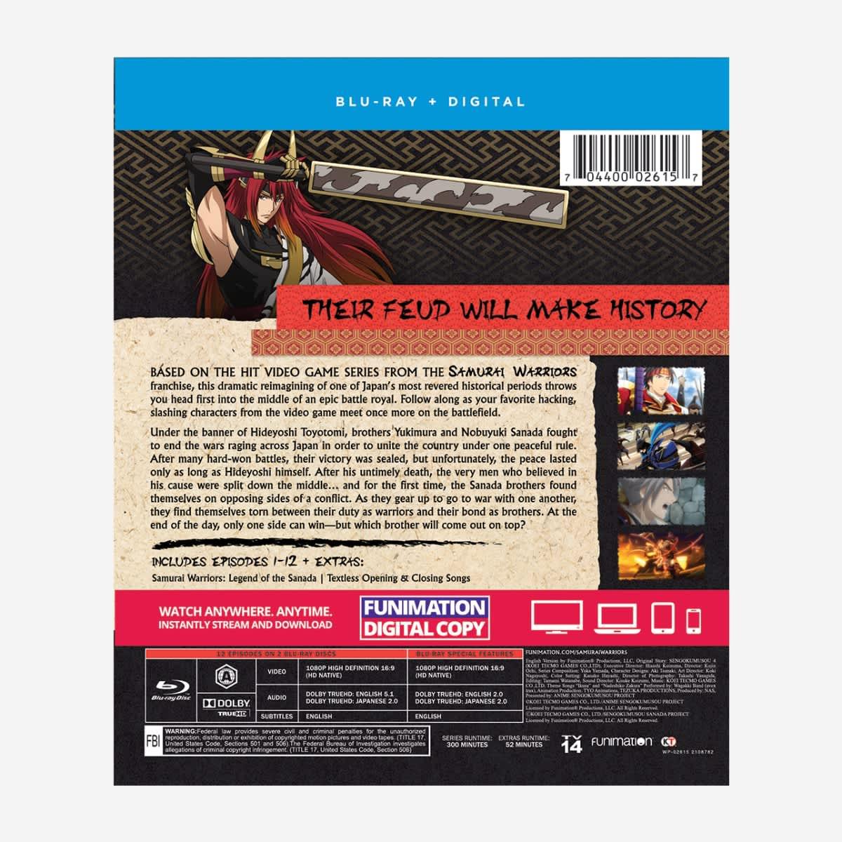 Samurai Warriors Essentials Blu-ray