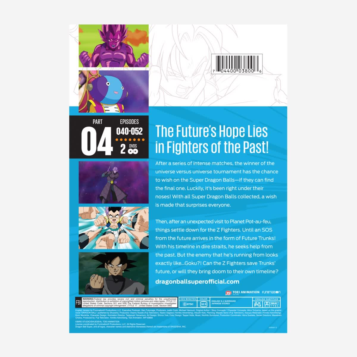 Dragon Ball Super Part 4 DVD