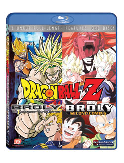 Dragon Ball Z Movie Broly Double Feature Blu-ray (Movies 8,10) 704400038617