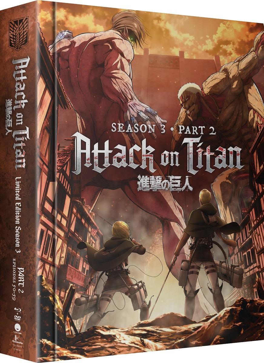 Attack on Titan Season 3 Part 2 Limited Edition Blu-ray/DVD