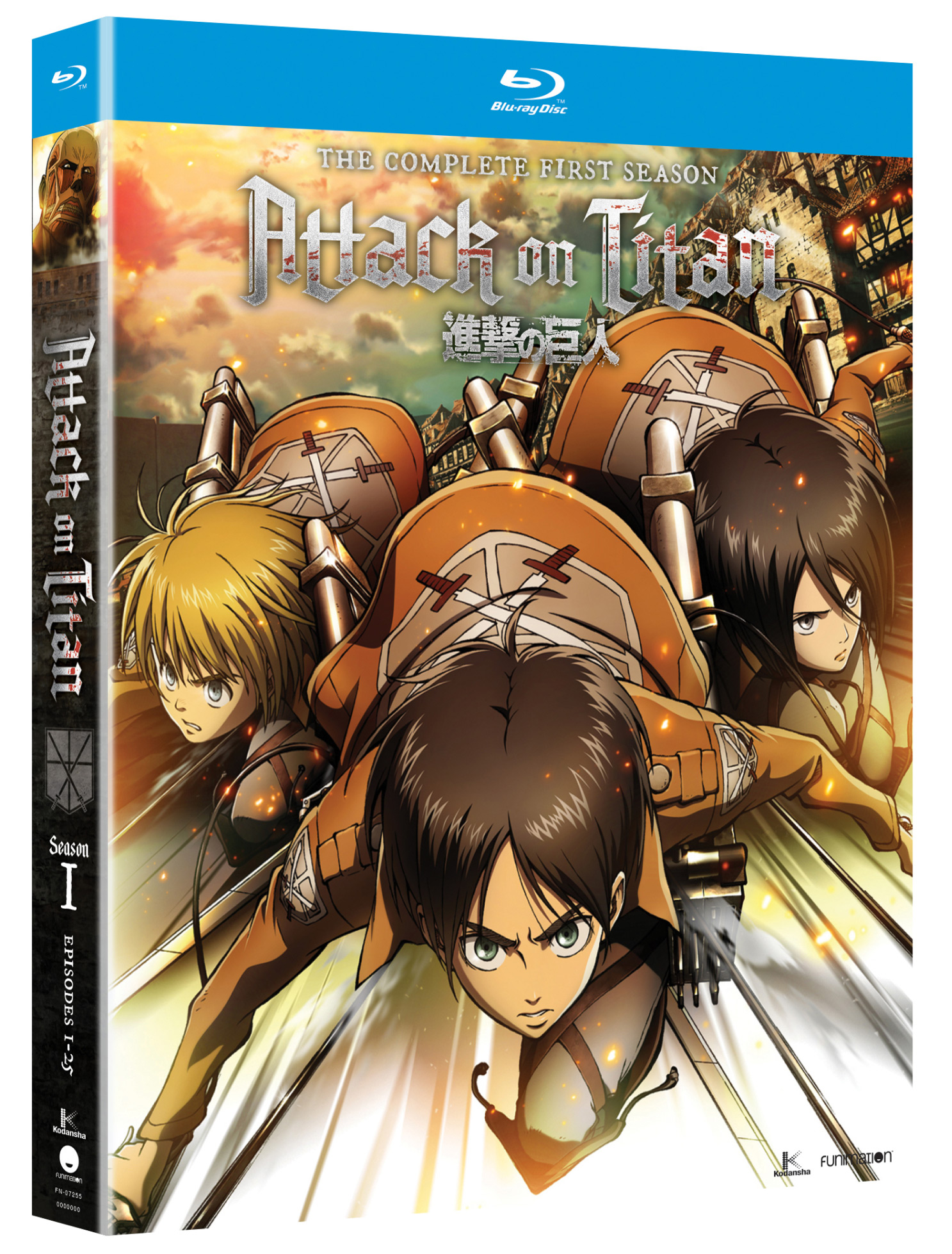 Attack on Titan Season 1 Blu-ray 704400072550