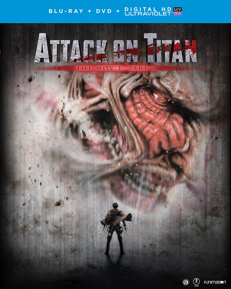 Attack on Titan The Movie Part 1 Blu-ray/DVD + UV 704400072734