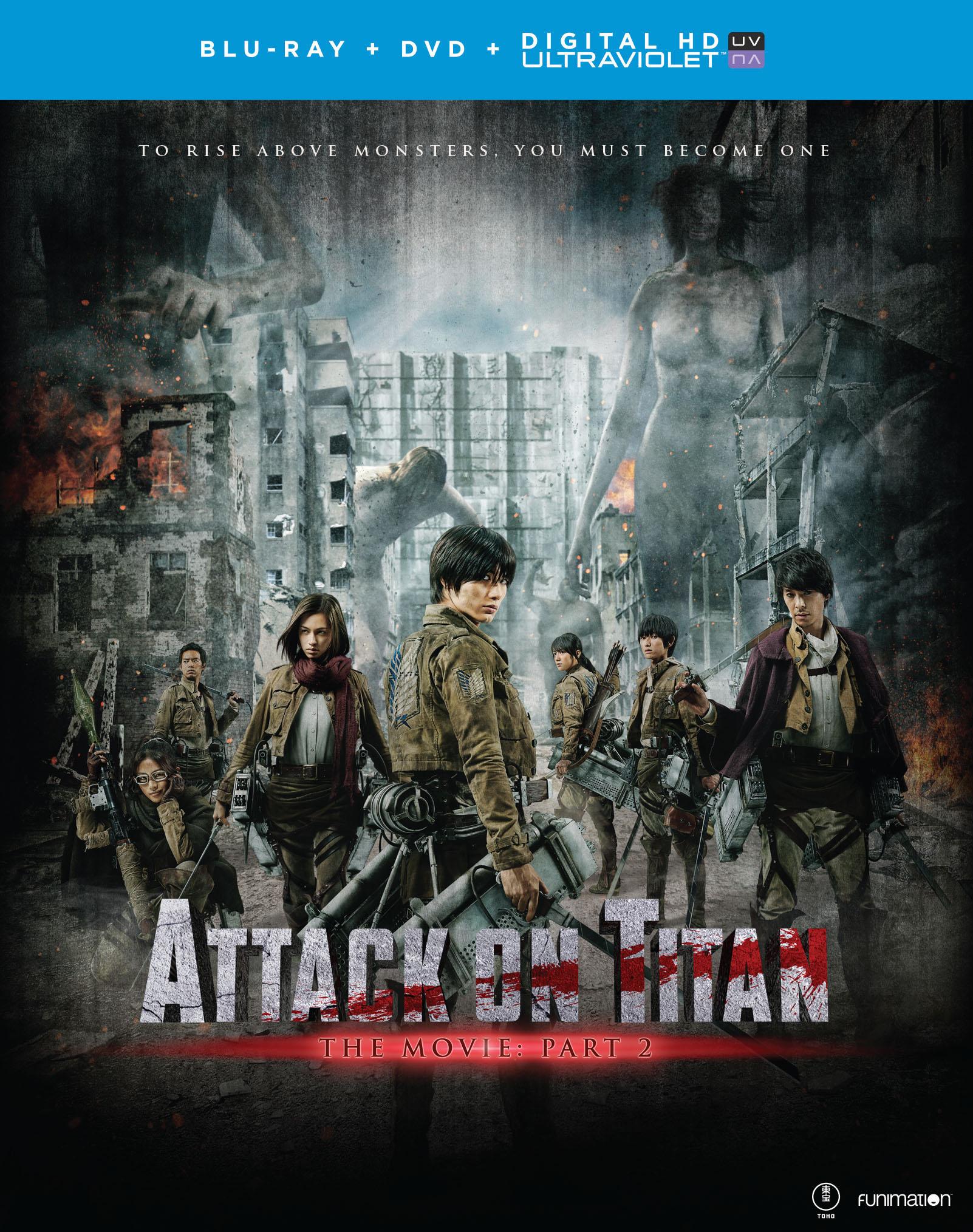 Attack on Titan The Movie Part 2 Blu-ray/DVD + UV 704400072765