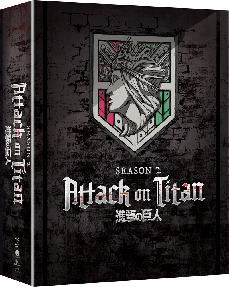 Attack on Titan Season 2 Limited Edition Blu-Ray/DVD 704400072956