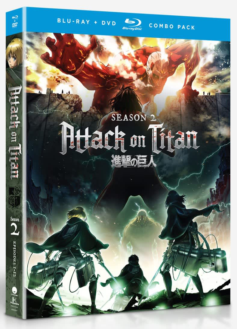 Attack on Titan Season 2 Blu-Ray/DVD 704400072963