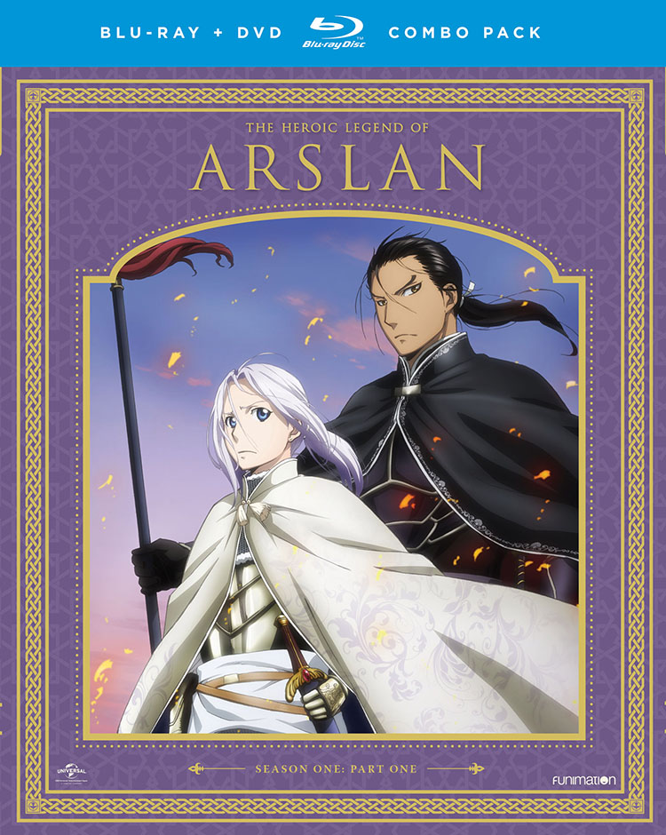 The Heroic Legend of Arslan Season 1 Part 1 Blu-ray/DVD 704400073359