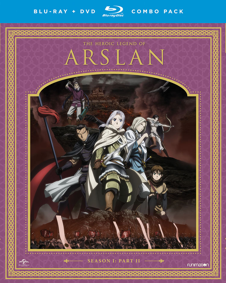 The Heroic Legend of Arslan Season 1 Part 2 Blu-ray/DVD 704400073366