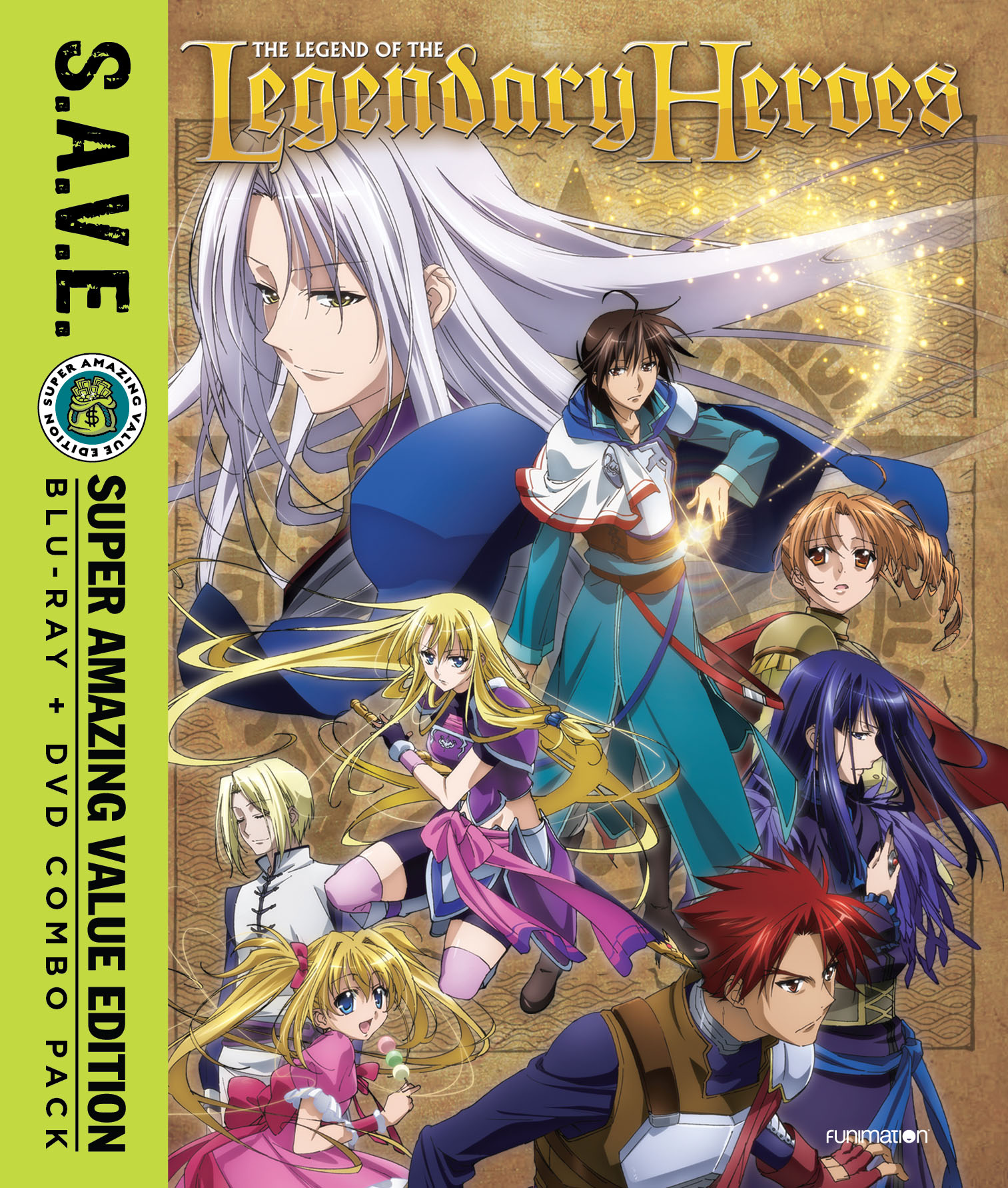 The Legend of the Legendary Heroes Blu-ray/DVD SAVE Edition 704400089541