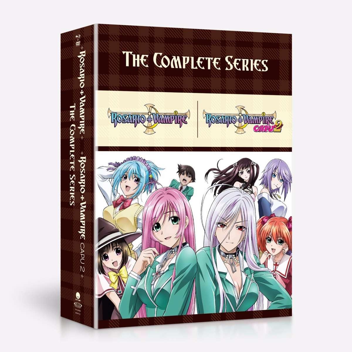 Rosario+Vampire Complete Series Blu-ray/DVD 704400096860