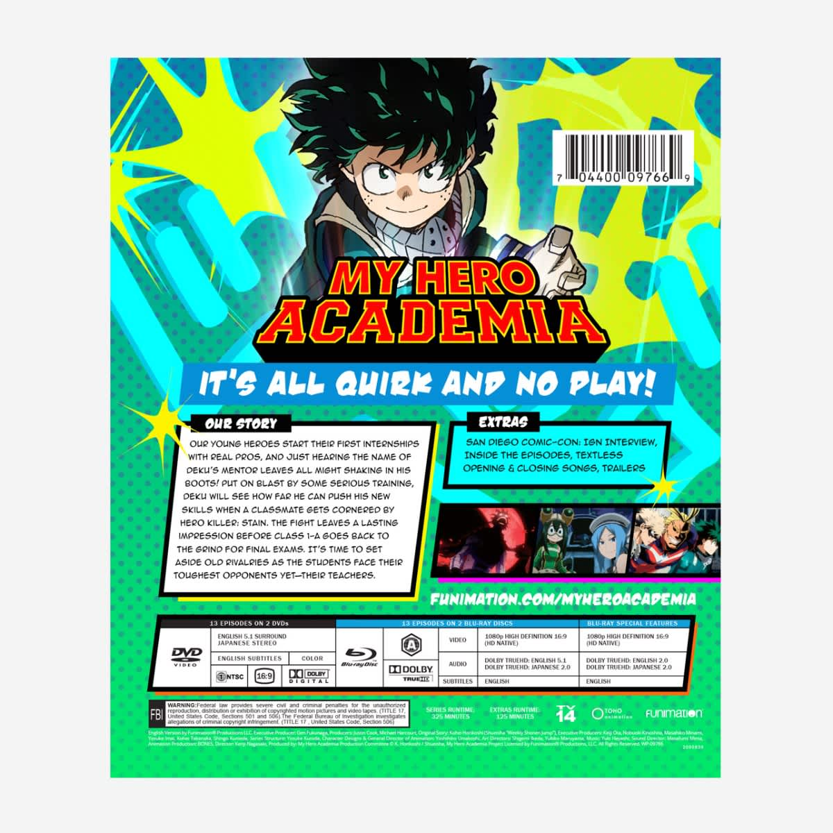 My Hero Academia Season 2 Part 2 Blu-ray/DVD