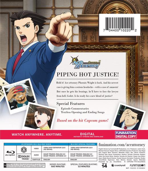 Ace Attorney Season 2 Blu-ray