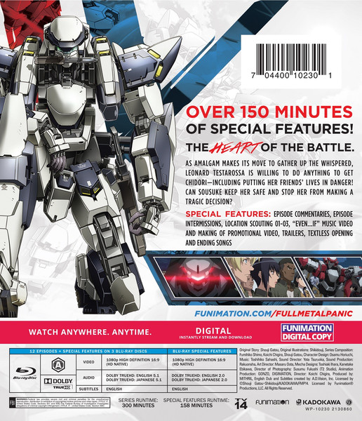 Full Metal Panic! Invisible Victory Classics Blu-ray
