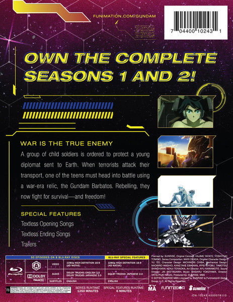 Mobile Suit Gundam Iron-Blooded Orphans Complete Series Blu-ray