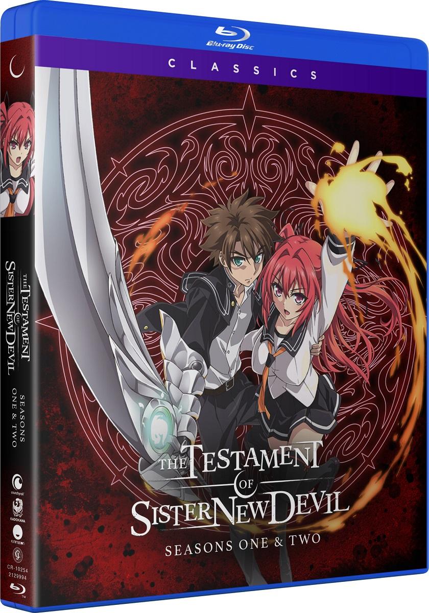 The Testament of Sister New Devil Seasons 1 & 2 Classics Blu-Ray